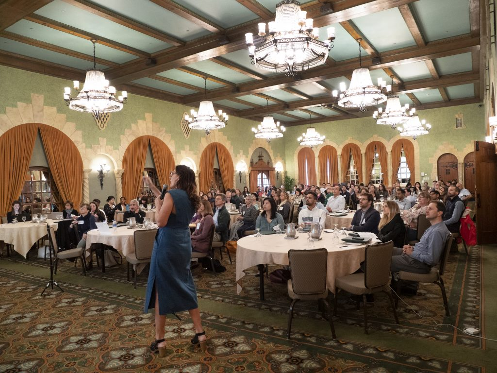 carolyn cannuscio presents to a full house at 2019 roybal retreat